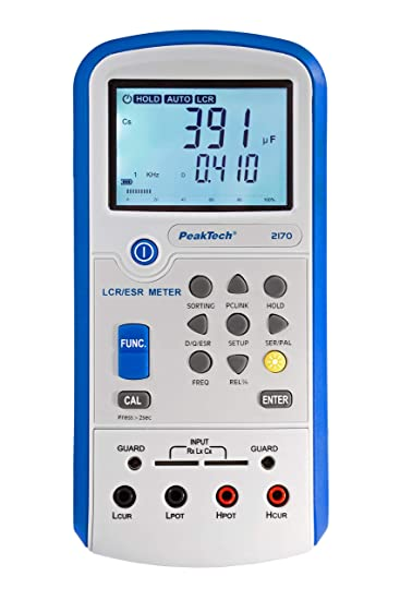 Peaktech 2170 Lcr Meter Esr Meter With Usb Includes Software Lcr Auto Detection Frequency 1 120hz 1 10 100khz Digital Multimeter Meter Meter Current Meter Illuminated Lcd Display Bargraph Business Industry Science