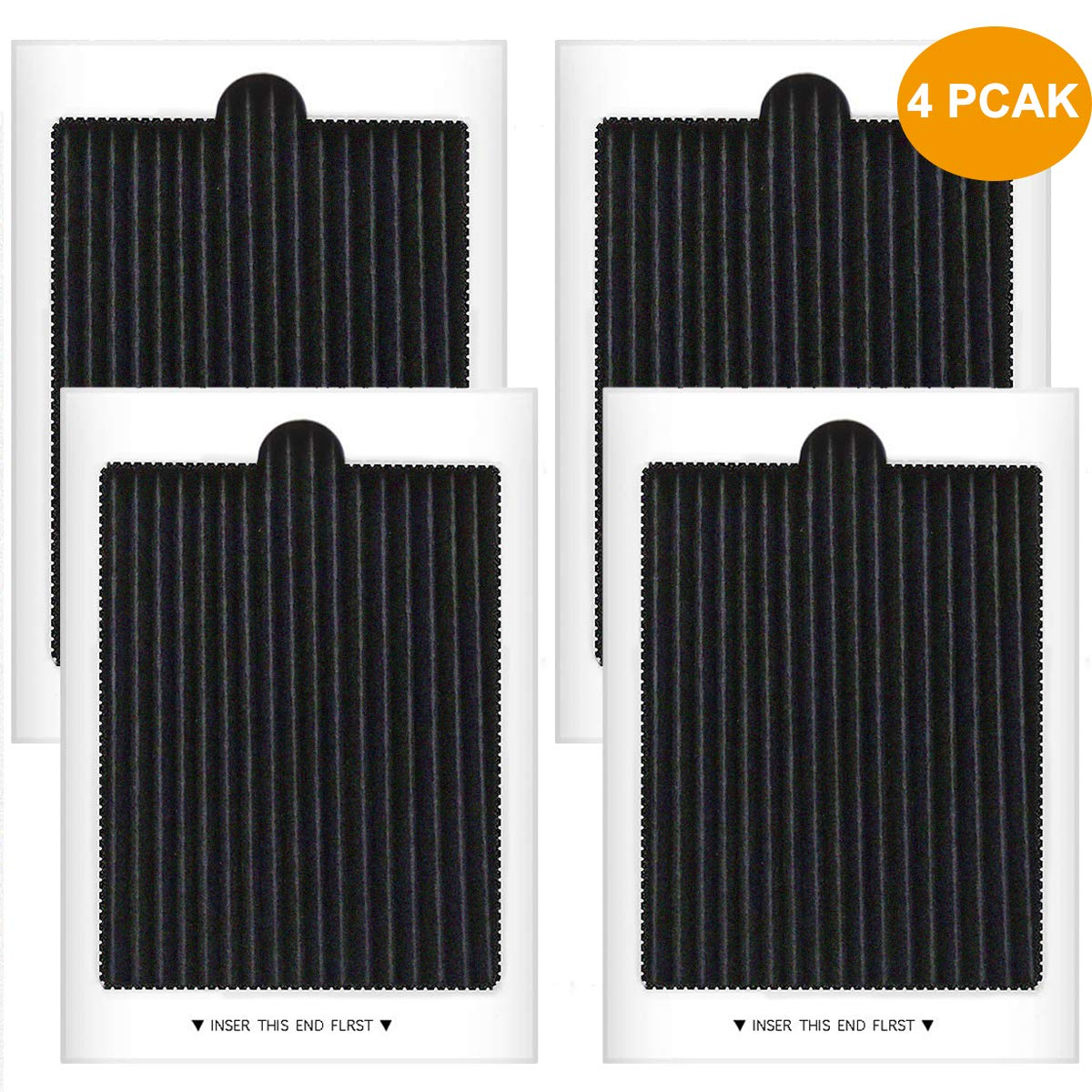 Carbon Activated Refrigerator Air Filter Replacement Compatible with Frigidaire PAULTRA, SCPUREAIR2PK, Electrolux EAFCBF (4 PCS)
