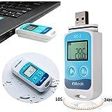 Mini USB Température Data Logger Temp Enregistreur Haute Précision Capteur Externe Interne 32000 points de Capacité d'enregistrement