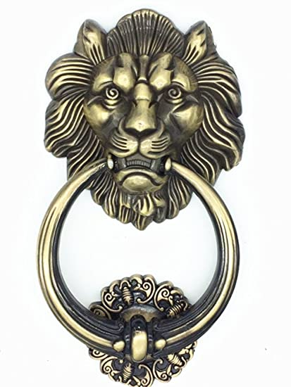 UniDecor Large Antique Lion Door Knocker Lion Head Door Handle - UniDecor Large Antique Lion Door Knocker Lion Head Door Handle