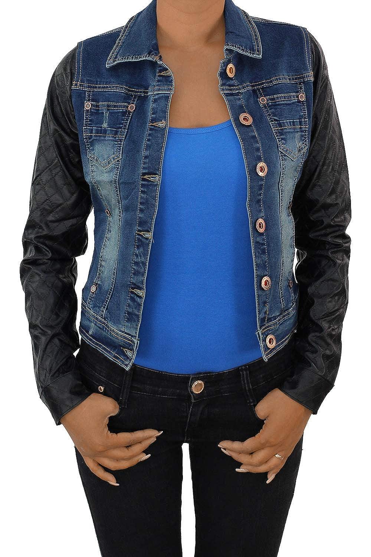 7e43642de8dd2b Sotala Damen Jeansjacke Damenjacke Kurze Denim Stretch Jeans Jacke  Übergangsjacke Blau: Amazon.de: Bekleidung