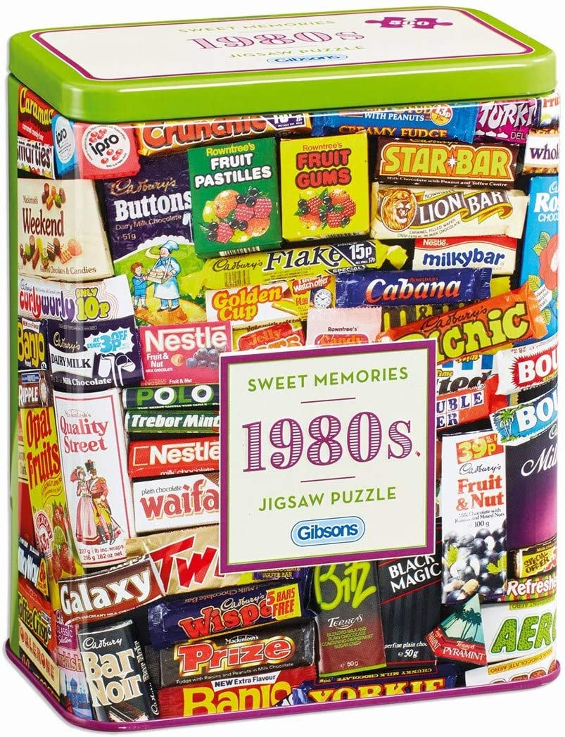 1980s Sweet Memories Jigsaw Puzzle in a tin