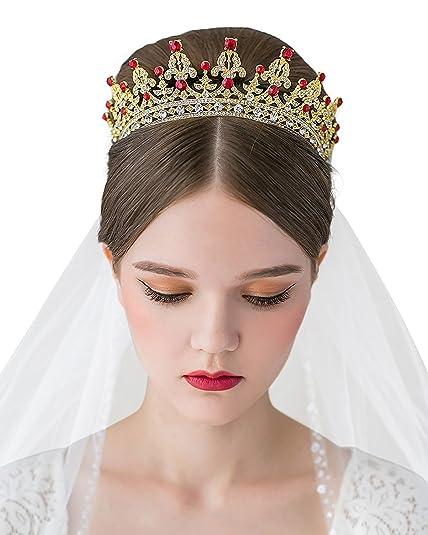 Amazoncom Crown Tiara Bella Bridal Vintage Crystal Diamond Bride