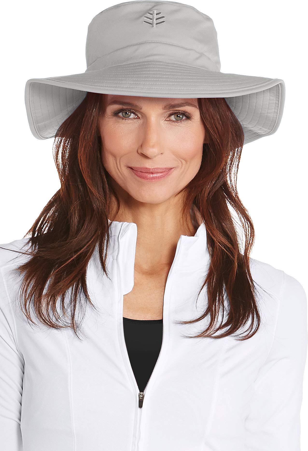 Coolibar UPF 50+ Women's Chlorine Resistant Bucket Hat - Sun Protective (Small/Medium- Mercury)
