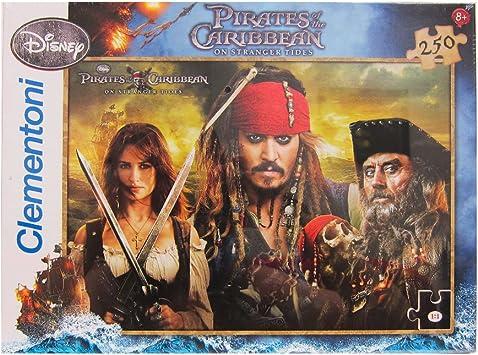 Clementoni 29636 - Puzzle (250 Piezas), diseño de Piratas del Caribe: Amazon.es: Juguetes y juegos