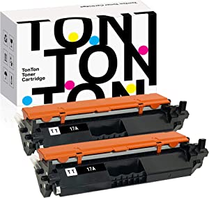 TonTon Compatible Toner Cartridge Replacement for HP 17A Toner Cartridge, HP CF217A Toner Cartrige, HP Laserjet Pro M102w, MFP M130fn, MFP M130fw. (2 Pack)