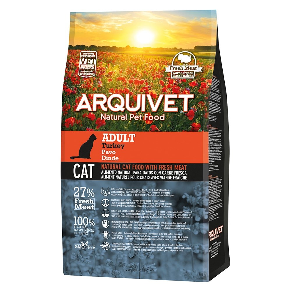 Arquivet Cat Adult Turkey Comida para Gatos - 1500 gr: Amazon.es: Productos para mascotas