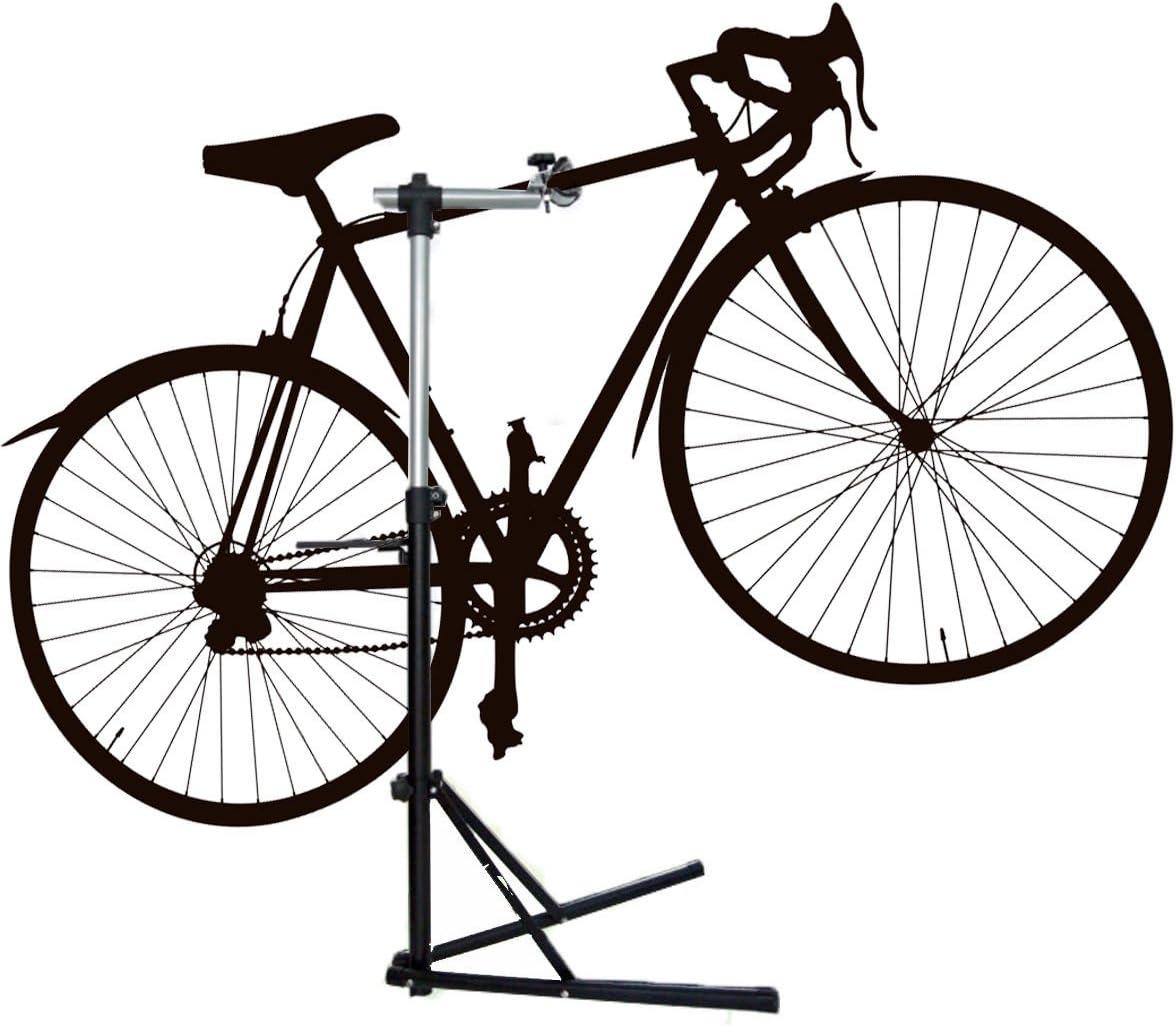 MVP 360 ° Soporte Bicicleta Soporte de montaje centrar profesional – Soporte para reparación de bicicletas, altura regulable de 97 a 160 cm: Amazon.es: Deportes y ...
