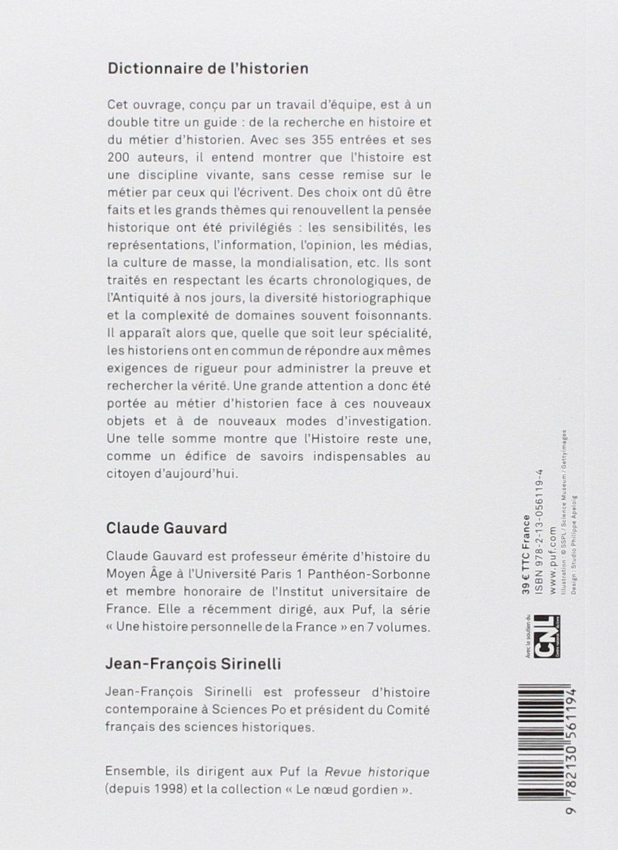 Amazon.fr - Dictionnaire de l'historien - Claude Gauvard, Jean-François  Sirinelli - Livres