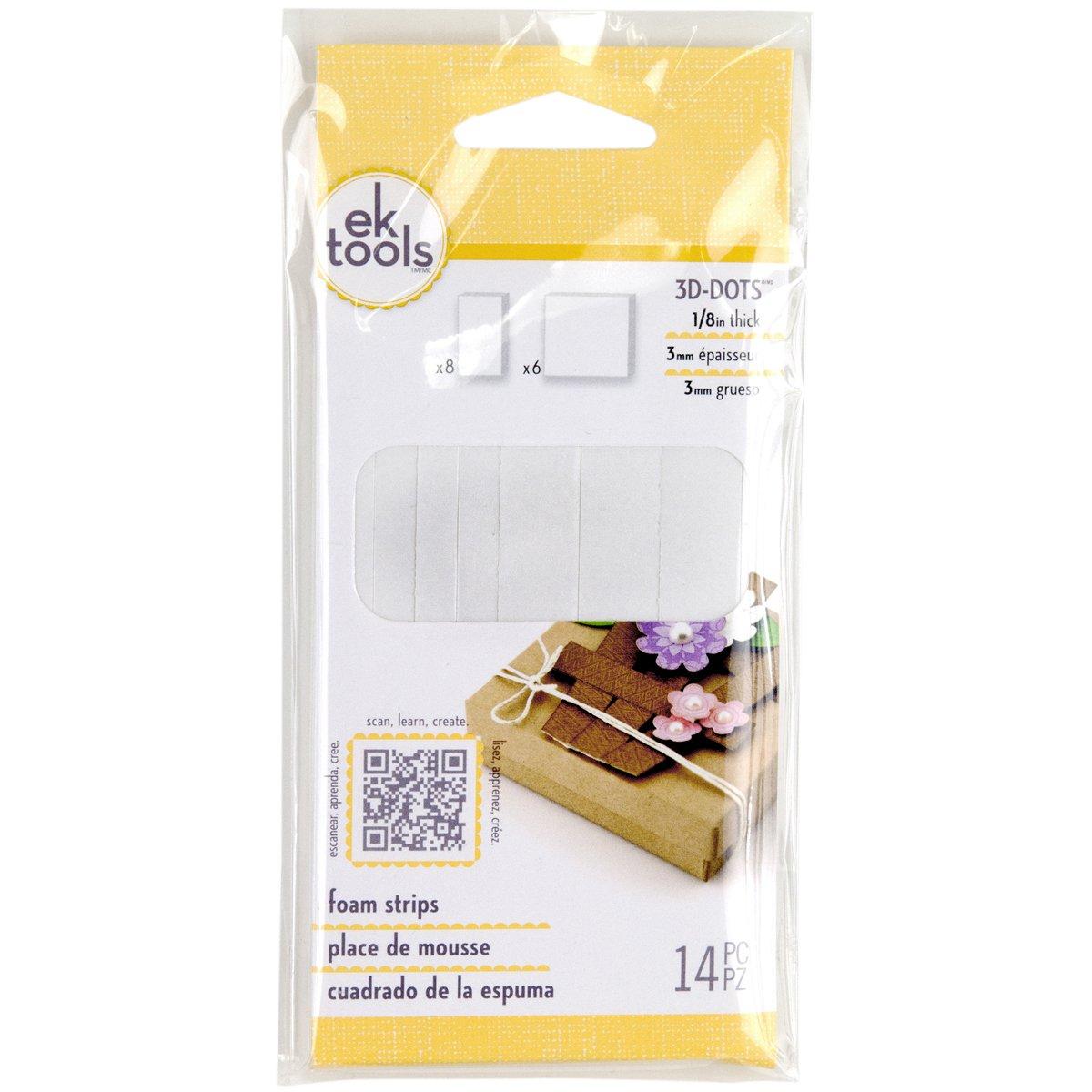 EK Tools EK55-01043 Tiras de espuma adhesiva, 125, multic...