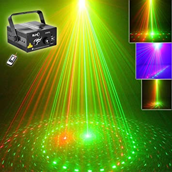 Amazoncom SUNY Dj Lights Red Green RG Gobo Projector ZRG For - Bedroom laser lights