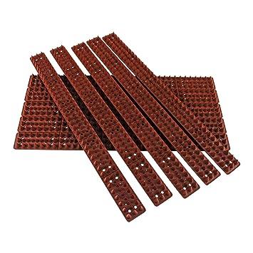 Paquete de 10 pinchos contra escalada, de la marca Parkland®, para pared, cubre 5 m de longitud, marrón, pack de 10: Amazon.es: Hogar