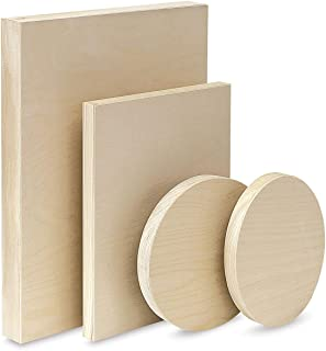 "product image for American Easel Wood Painting Panel 7/8"" Flat 6x8"" Oval"