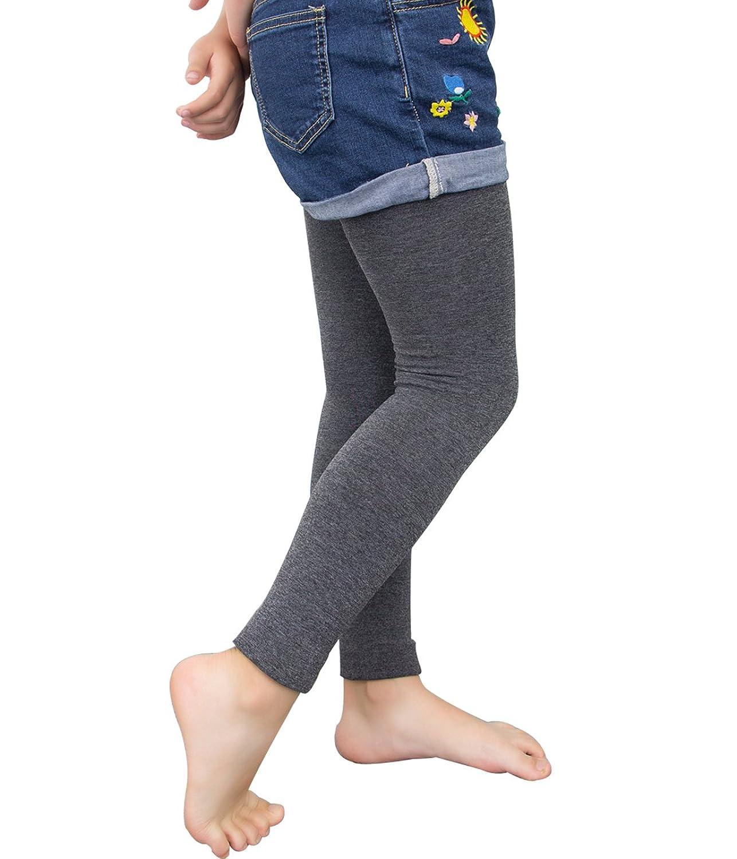 2 Pairs Little Girl Fleece Lined Warm Winter Footless Legging Stockings