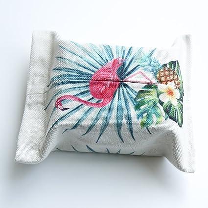 Bolsa de Tejido Nórdico Cactus Cubierta de Tejido Pintado a Mano de Acuarela Caja de Pañuelos