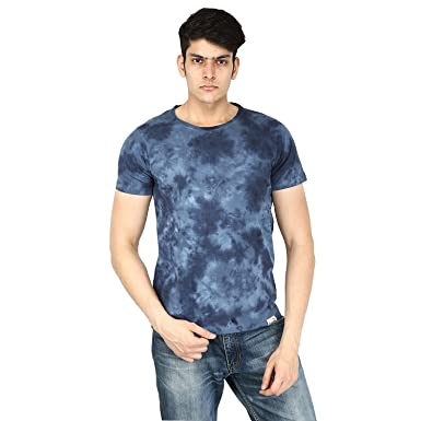 51095d6f2 Gazelles Men's Cotton Round Neck Half Sleeve T Shirt (Blue, Small)