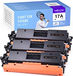 myCartridge SUPCOLOR Compatible Toner Cartridge Replacement for HP 17A CF217A for HP Laserjet Pro M102w M102a, MFP M130nw M130fw M130fn M130a Printer (Black, 3 Pack)