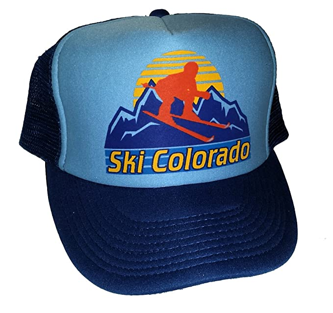 ab8f384f97738 Image Unavailable. Image not available for. Color  Ski Colorado Snapback  Mesh Trucker Hat Cap Skiing