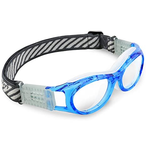 92d3fe53e9 Ponosoon Sports goggles for KIDS for basketball football volleyball 853 (Transparent  Blue) - - Amazon.com