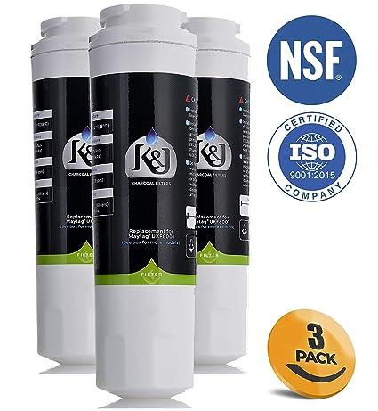 K&J Maytag filtro de agua para refrigerador compatible con UKF8001 ...