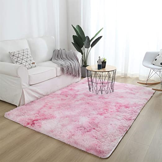 Small And Large Size Plain Fluffy Soft Shaggy Living Room Rug Bedroom Floor Rugs