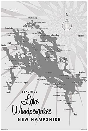 Amazon.de: Northwest Art Mall Lake Winnipesaukee NH grau Vintage ...
