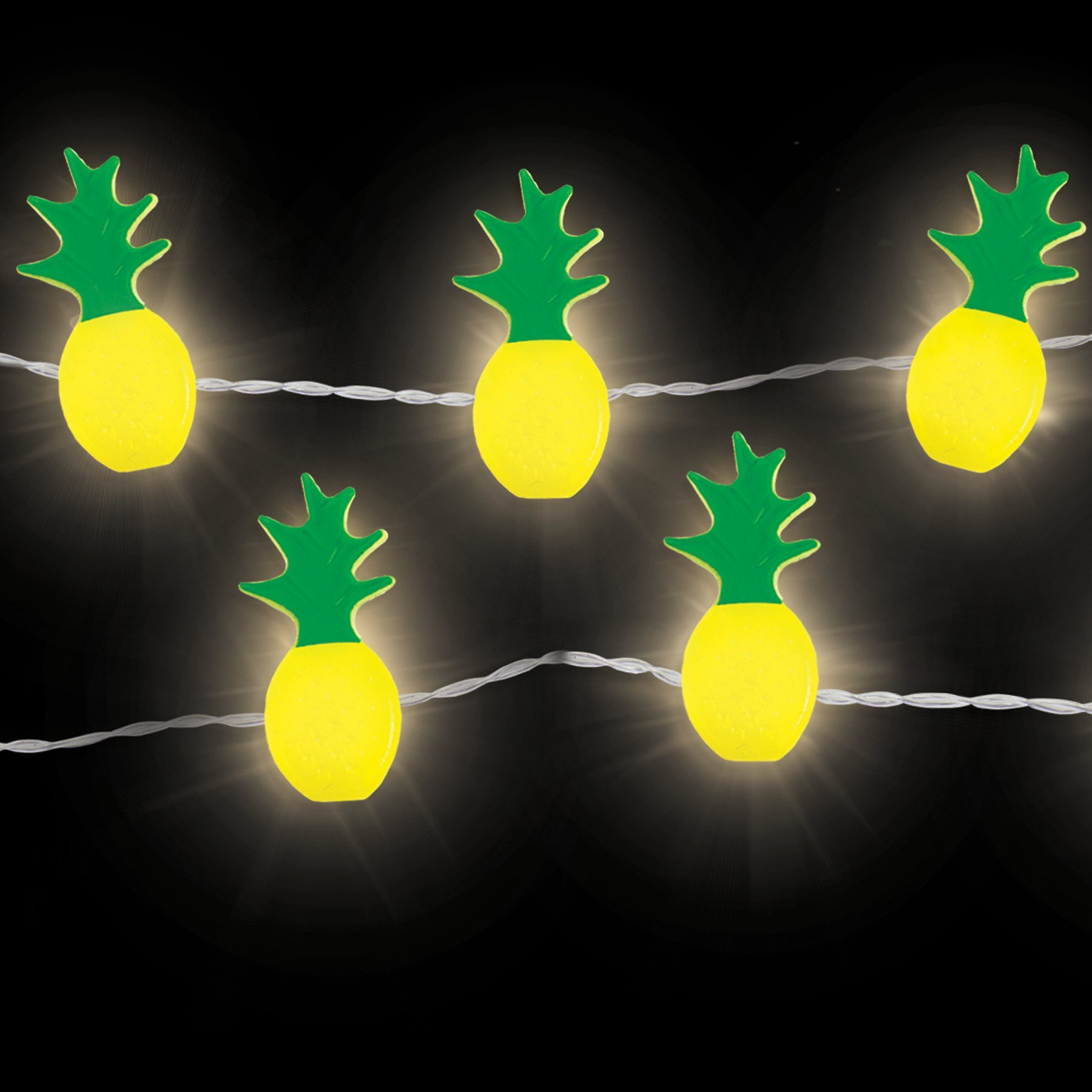 WallPops WPLT2831 Pineapple String Lights, Yellow