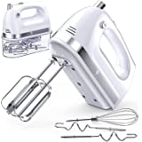 Hand Mixer Electric, 400W Ultra Power Kitchen Mixer Handheld Mixer With 2x5 Speed (Turbo Boost & Automatic Speed) + Storage B
