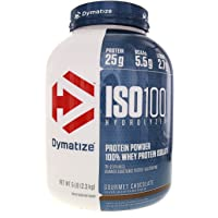 Dymatize Nutrition ISO 100 Whey Protein Isolate Powder - 2.26 kg (Gourmet Chocolate)