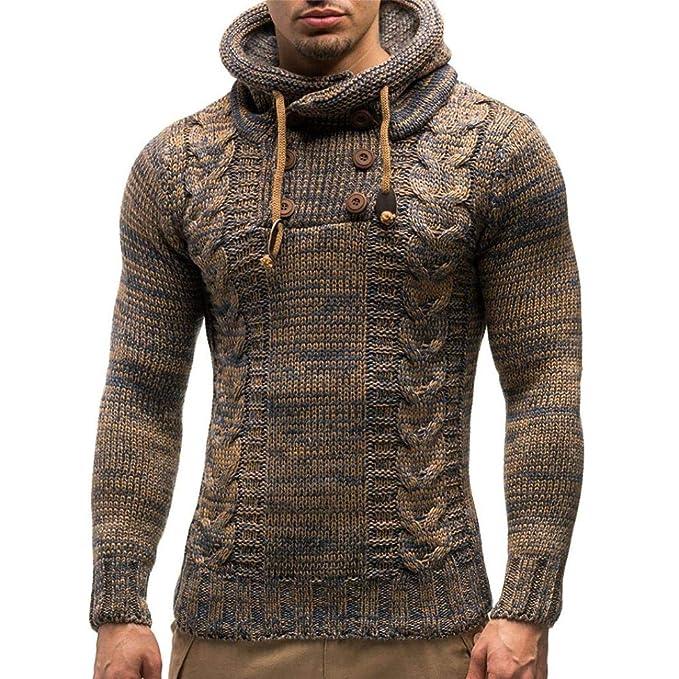 Resplend Suéter de Invierno de los Hombres de la Chaqueta de Punto con Capucha de Abrigo