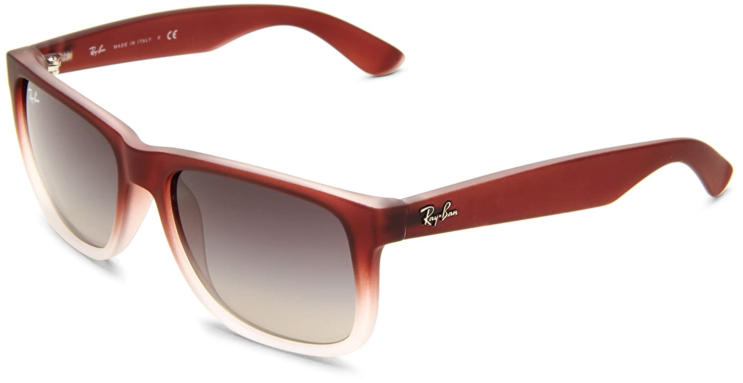 ef46c28c4 Ray-Ban 4165 855/8G Brown Gradient Justin Sunglasses: Amazon.co.uk: Clothing