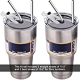 30 oz Tumbler Lids with Drinking Straws, Fits for