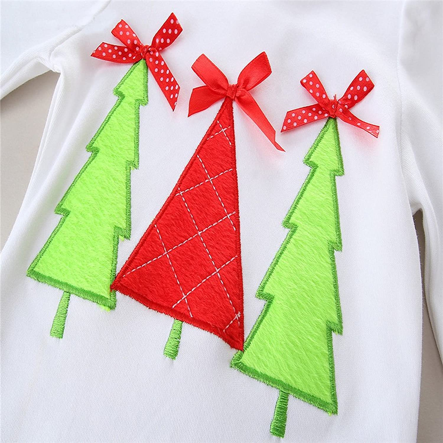 Amazon.com: TinaLuLing Cotton Christmas Girls Clothing Sets Baby Boutique Outfits: Clothing