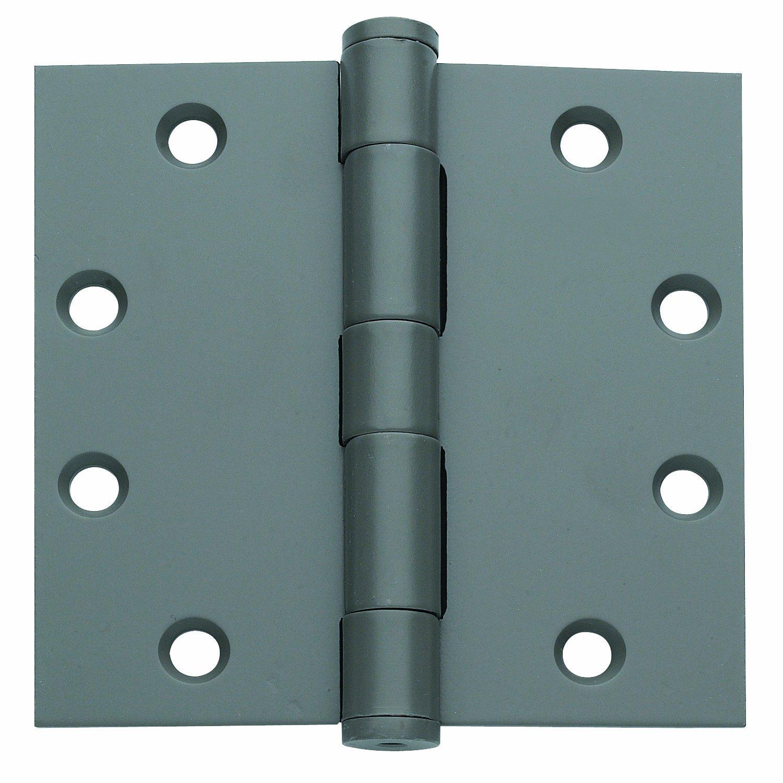 Global Door Controls 4.5 in. x 4.5 in. US Prime Steel Spring Hinge - Set of 3