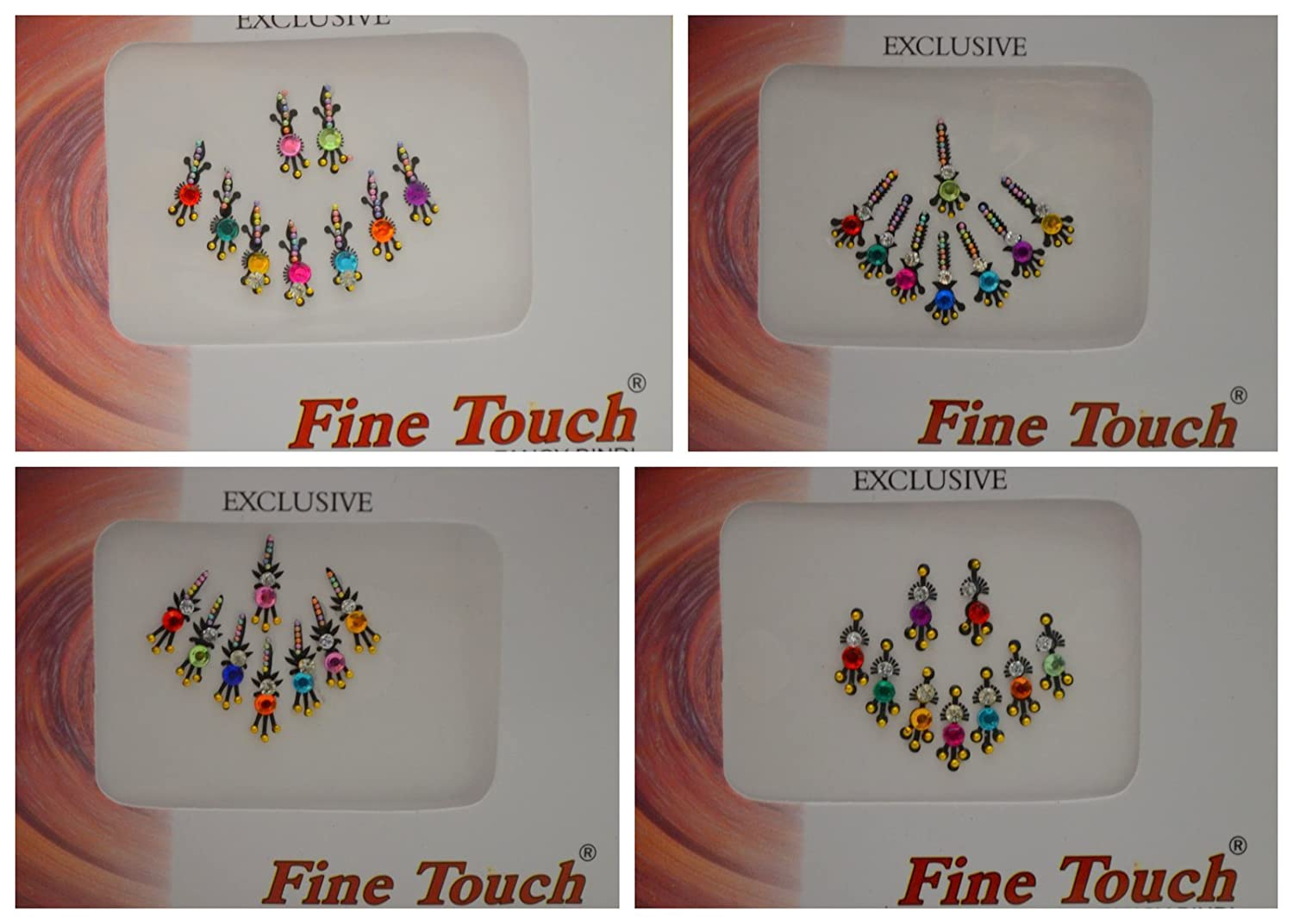 Crystal Look Stones Bindi Tattoo Stickers Set of Many Style Body Adhesive Temporarely Jewelry By Golden India Choose Design Batra' s Crystal Look Bindis