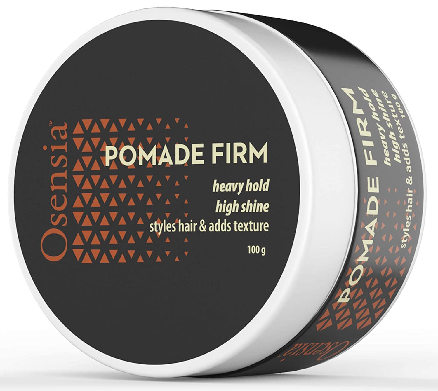 Pomade Firm Strong Hold Hair Wax - High Shine, High Hold Pomade for Men - Styling Gel, No Flakes or Residue, Washes Out Easy - Alcohol and Paraben Free Water Based Pomade Gel by Osensia, 3.4 Ounces