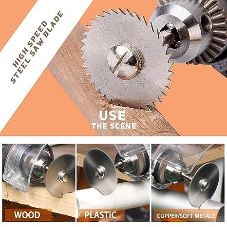 Asdomo 6 unidades Discos de corte de madera para herramienta giratoria Dremel