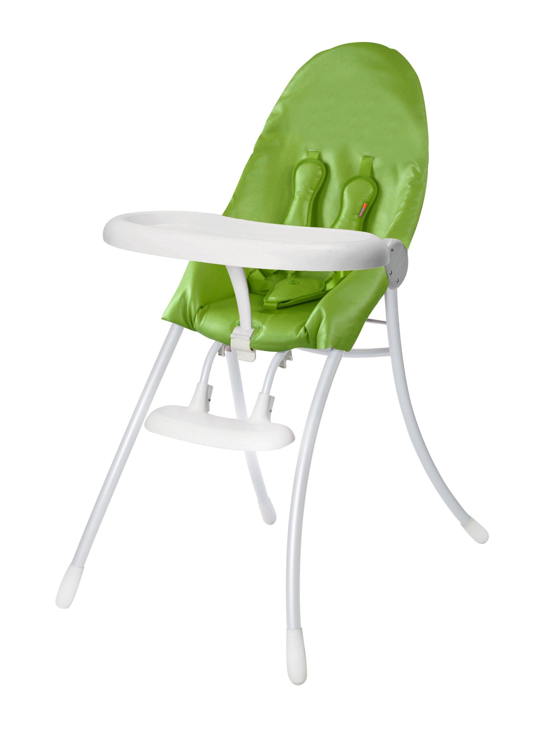 Bloom Nano Urban Highchair, Matte White/Gala Green