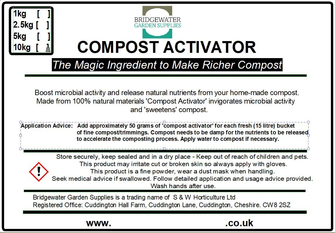 Bridgewater Garden Supplies Natural Compost Activator, 20kg