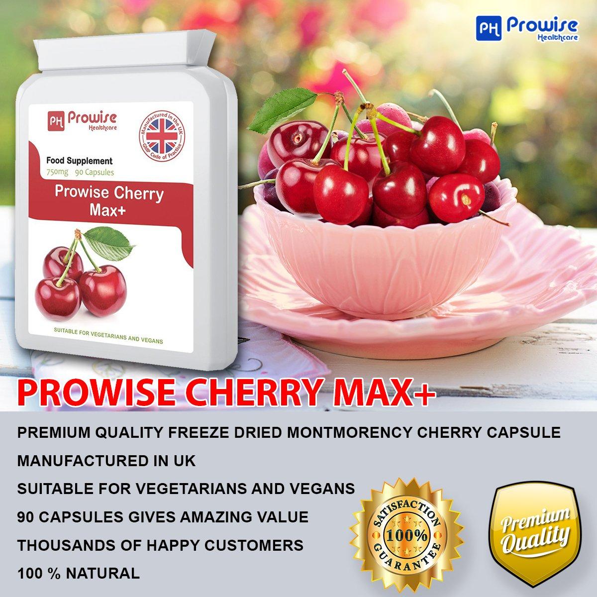 Cereza - Prowise Cherry Max 750 mg 90 cápsulas - Apto para vegetarianos y veganos - PAQUETE DE 2: Amazon.es: Salud y cuidado personal