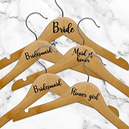 Amazon.com: Set of 5 Vinyl Art Decals - Bride Bridesmaid ...