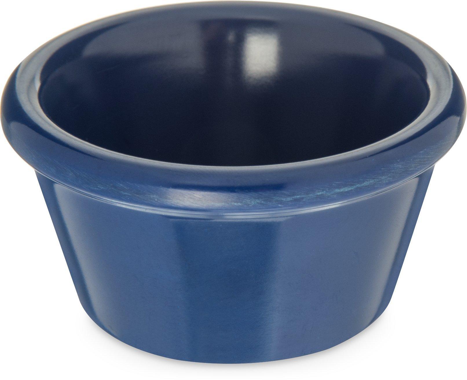 Carlisle 085260 Melamine Smooth Ramekin, 2 oz. Capacity, Cobalt Blue (Case of 72)
