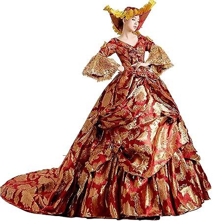QJXSAN For Mujer Medieval Renacimiento Lolita Largo del ...