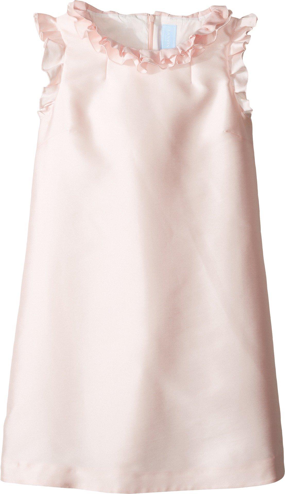 Lanvin Kids Girl's Dress w/Ruffle Collar & Sleeve Detail (Big Kids) Pink 14