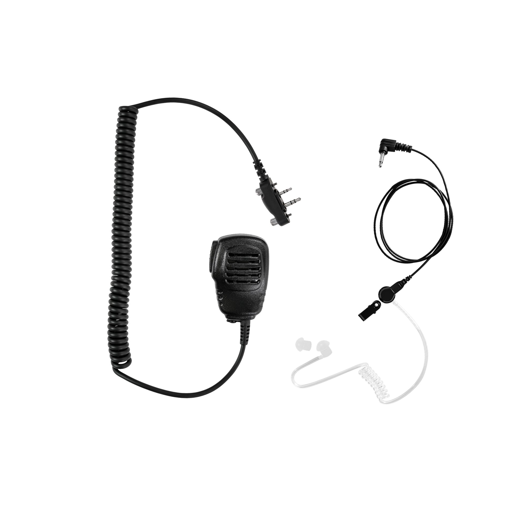Maxtop APM100ARP25-I2 Light Duty Shoulder Speaker Microphone for ICOM with Receiving Only Earphone