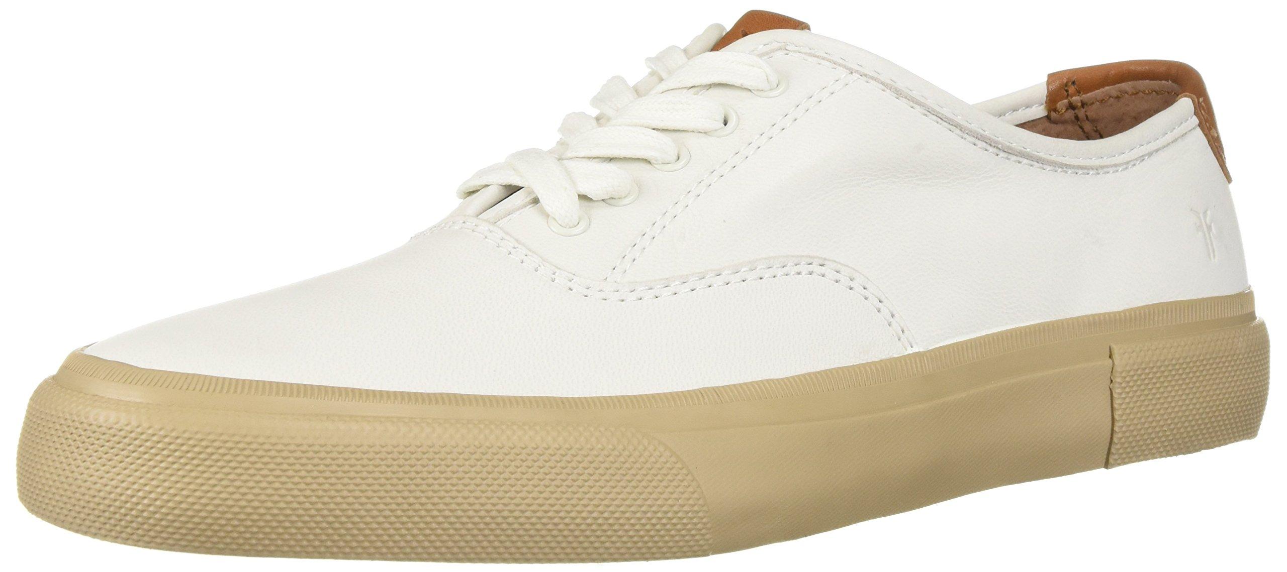 FRYE Men's Ludlow Bal Oxford Sneaker, White, 12 Medium US