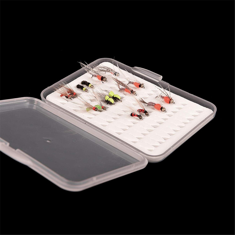 unknow Rlmobes Fliegenfischen wasserdichte Fliegenbox Transparente K/öder Organizer Angelbox Tackle Storage
