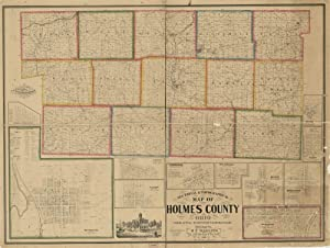 Vintage 1861 Map of Sectional & topographical map of Holmes County, Ohio Holmes County, Ohio, United States