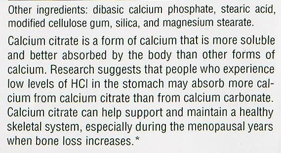 Source Naturals - Calcium Citrate 333Mg 90 Tab: Amazon.es ...