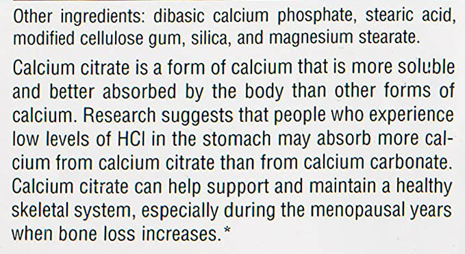 Source Naturals - Calcium Citrate 333Mg 90 Tab: Amazon.es ...